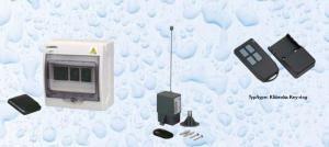 Dálkové spínání čtyř-kanálové (tj. dvou zařízení) pevný vysílač