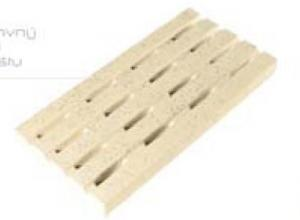 Dekorace - mřížka roštu 500 x 250 x tl. 40 mm – Hladký povrch