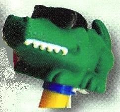 Teploměr plovoucí se zvířátky – krokodýl s brýlemi