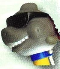 Teploměr plovoucí se zvířátky – žralok s brýlemi