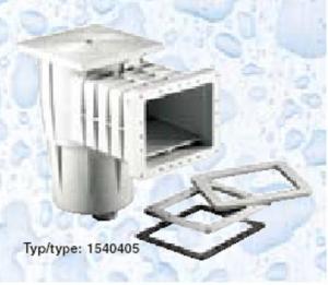 Skimmer Kripsol sání 200 mm x 180 mm, pro fólie, s vak. kotoučem