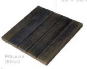 Dlažba Louisiane – rádiusová dlaždice R 1 500 int., přírodní dřevo