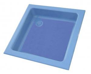 Sprchová vanička 90x90 cm, modrá/modrá
