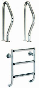 Žebřík nerez dvoudílný – 2 stupně (kotvení přírubou), AISI 304