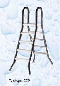 Žebřík EEP pro nezapuštěné bazény, 4+4 stupně, pro bazény 1,2 m výšky, AISI 304