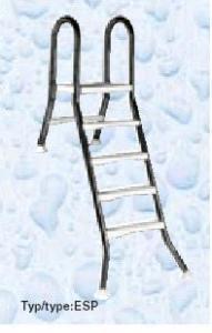 Žebřík ESP pro nezapuštěné bazény, 5+1 stupeň, pro bazény 1,5 m výšky, AISI 304