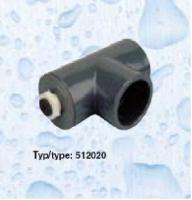 Jímka pro čidlo v T-kuse pro snímání teploty vody - dlouhá Jímka pro čidlo v T-kuse pro snímání teploty vody - dlouhá