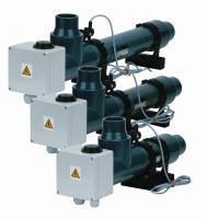 Topení EOVp-9,  9 kW,  400 V,  plast s el. průtokovou klapkou Topení EOVp-9,  9 kW,  400 V,  plast s el. průtokovou klapkou