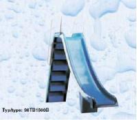 Bazénová skluzavka celolaminátová se schody a zábradlím 1, 5 m Bazénová skluzavka celolaminátová se schody a zábradlím 1, 5 m