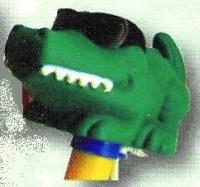Teploměr plovoucí se zvířátky – krokodýl s brýlemi Teploměr plovoucí se zvířátky – krokodýl s brýlemi
