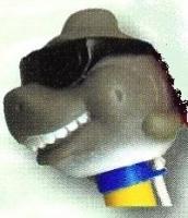 Teploměr plovoucí se zvířátky – žralok s brýlemi Teploměr plovoucí se zvířátky – žralok s brýlemi