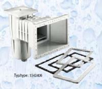 Skimmer Kripsol sání 400 mm x 230 mm, pro fólie, s vak. kotoučem Skimmer Kripsol sání 400 mm x 230 mm, pro fólie, s vak. kotoučem