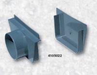 Přelivový žlábek - Koncovka vnitřní + vnější PVC s výpustí Přelivový žlábek - Koncovka vnitřní + vnější PVC s výpustí