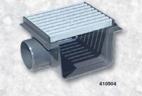 Přelivový žlábek - Středová spojka s roštem PVC Přelivový žlábek - Středová spojka s roštem PVC