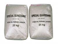 Filtrační písek - frakce 0, 6–1, 2 mm – baleno po 25 kg. Filtrační písek - frakce 0, 6–1, 2 mm – baleno po 25 kg.
