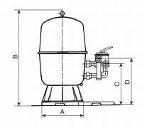 Filtr.nádoba dělená 500,  9 m3 / h Filtr.nádoba dělená 500,  9 m3 / h