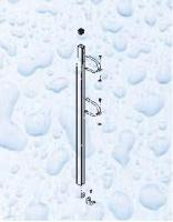 Držák pro ventilové baterie,  výška 2 m,  pro baterii d= 75 mm Držák pro ventilové baterie,  výška 2 m,  pro baterii d= 75 mm