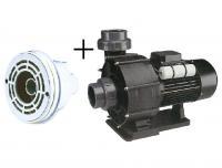 Pumpa 66 m3/h, 230 V, 2,2 kW+hlavice protiproudu(tryska 40 mm+sání) Pumpa 66 m3/h, 230 V, 2,2 kW+hlavice protiproudu(tryska 40 mm+sání)