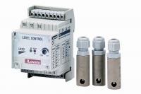 Elektronické automatické hlídání hladiny + 3x sonda (na DIN lištu) Elektronické automatické hlídání hladiny + 3x sonda (na DIN lištu)